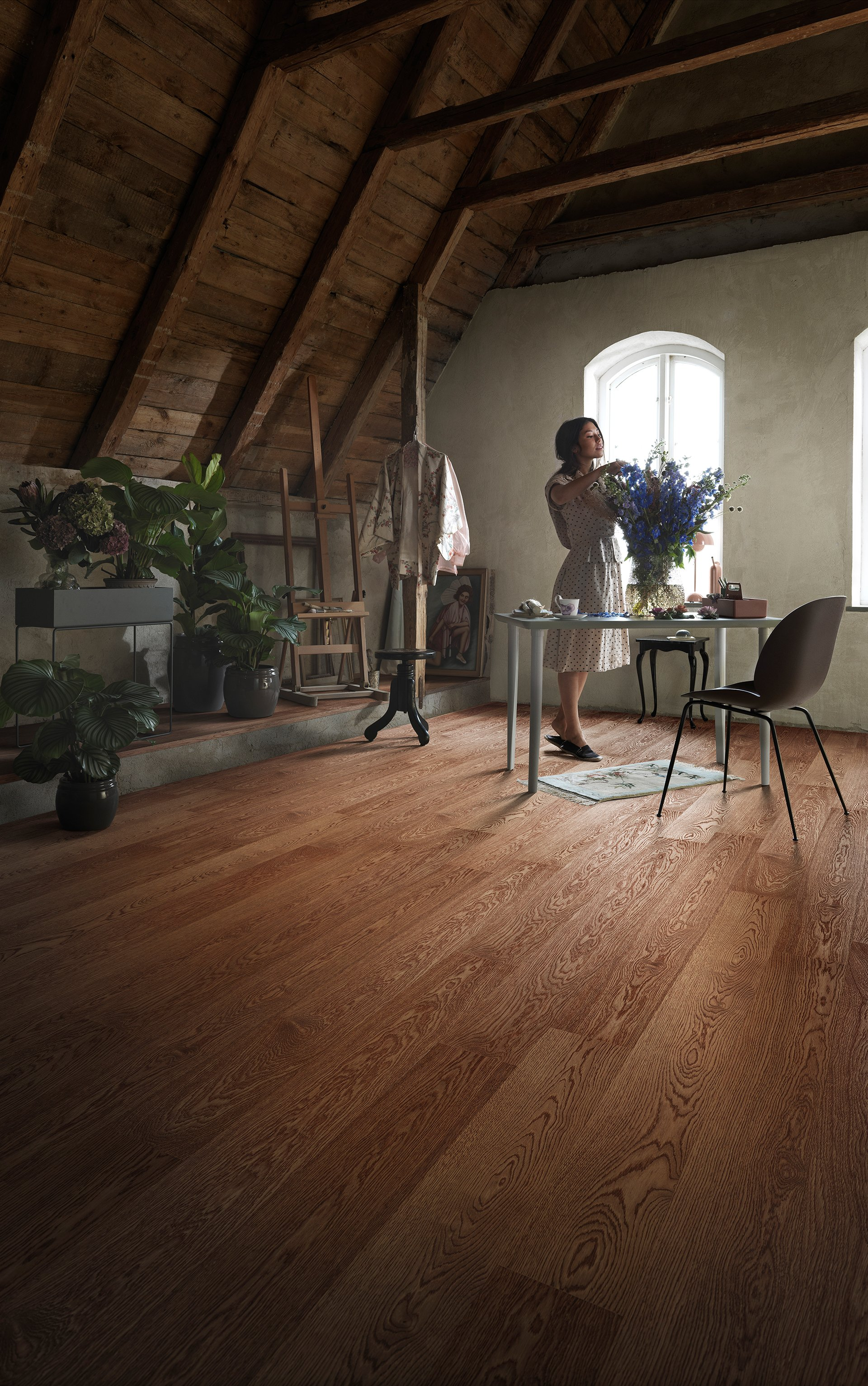 Floor - Brushed oak with Craft Oil Umbra 1